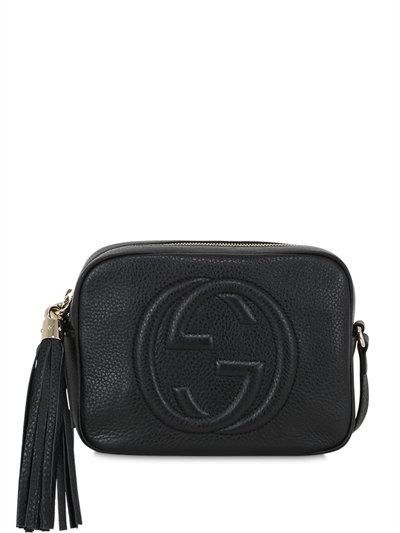 0c042359ee0934 luisaviaroma.com - gucci - soho grained leather disco bag