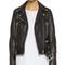 Acne studios mock leather moto jacket - black