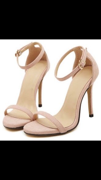 shoes heels nude sexy sandals pretty pink high heel sandals blush prom high love fashion