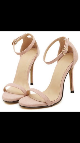 Shoes: heels, nude, sexy, sandals, pretty, pink, high heel sandals ...