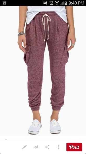 pants maroon purple colour hipster