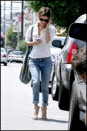 rachel bilson,blue jeans,jeans