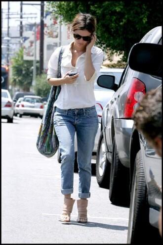 rachel bilson blue jeans jeans