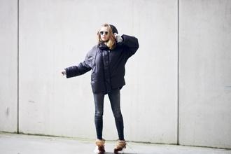 vasilieva blogger sunglasses down jacket winter outfits