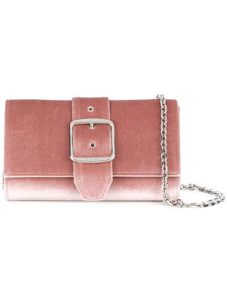 CASADEI women clutch leather velvet purple pink bag