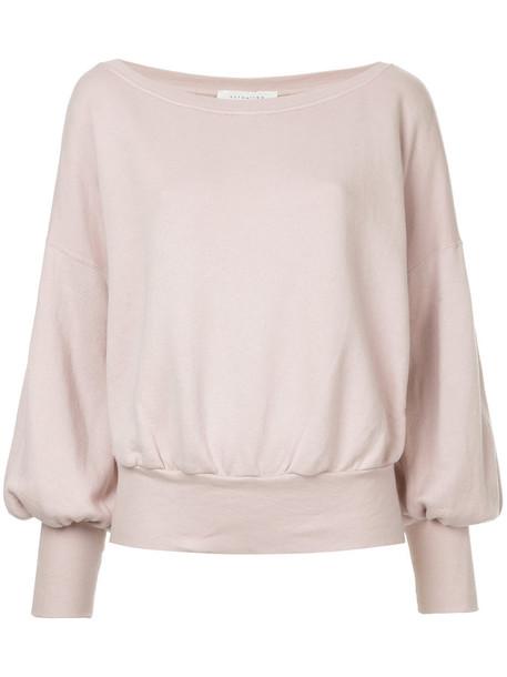 sweater women cotton purple pink