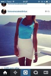 skirt,bandage skirt top,top,tulip bandage skirt