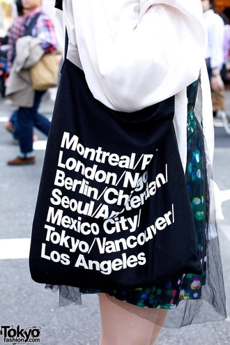 bag black white tumblr shop purse london los angeles tokyo montreal berlin vancouver