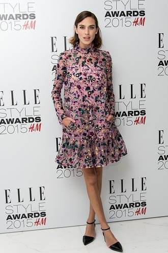 dress alexa chung floral floral dress