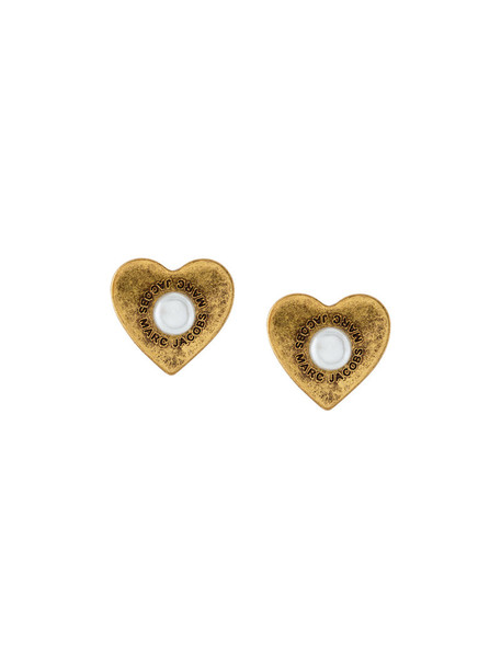 heart women earrings stud earrings grey metallic jewels