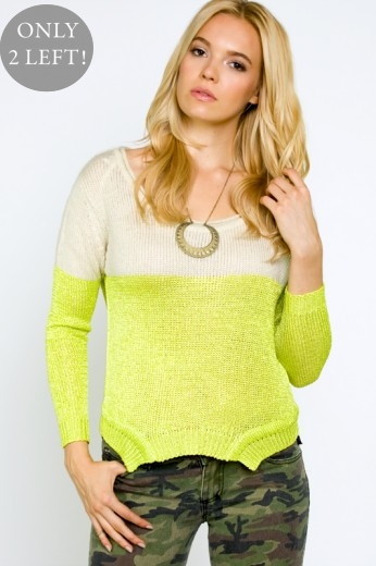 Finders Keepers Fair Play Knit - Electric Lime Knits - $90