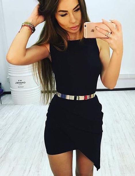 dress, black, skinny, black dress - 83.9KB