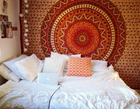 hippie scarf room room decor rug