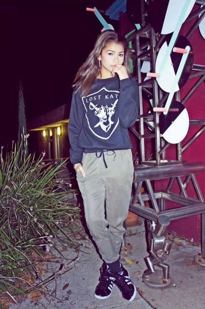 sweater lost kats zendaya swag girly pants shoes edit tagsZendaya Coleman Lost Kats