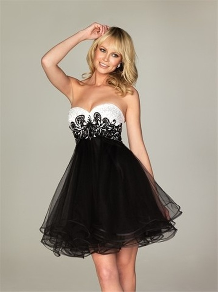 2015 newest satin black sweetheart empire dress homecoming dress prom dress cocktail dress/hd054