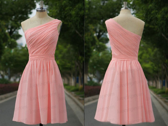 women prom prom dress pink prom dress one shoulder dress clothes wedding clothes formal dress formal dress party