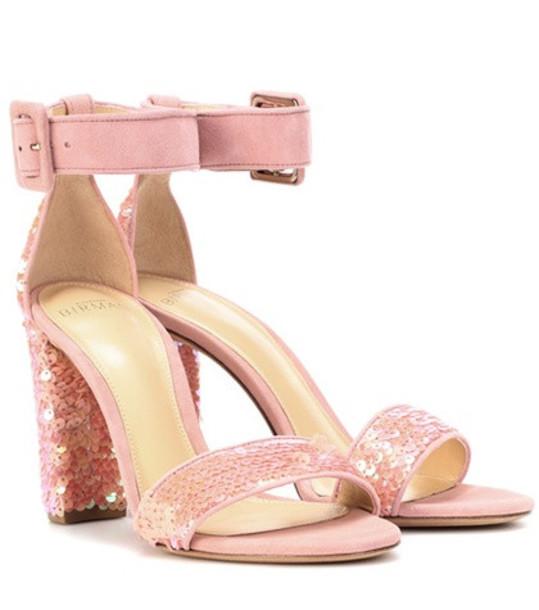 Alexandre Birman Delfinna Disco 90 sequined sandals in pink