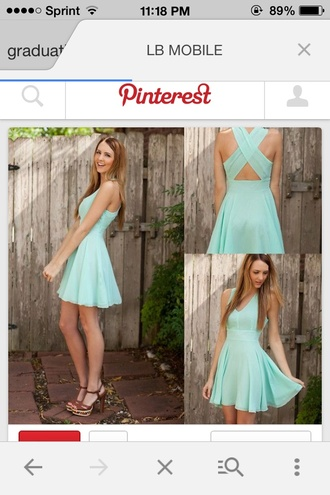 mint cross back mint dress criss-cross back dress graduation dress