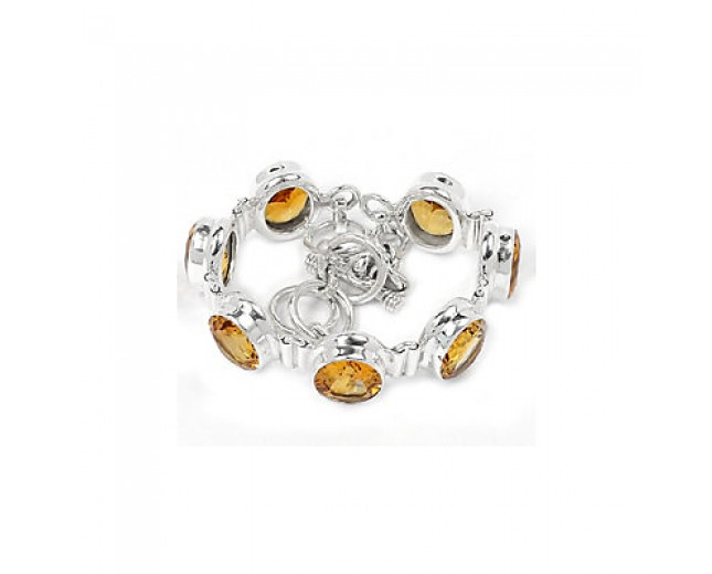 Awesome 925 sterling silver Citrine Bracelet