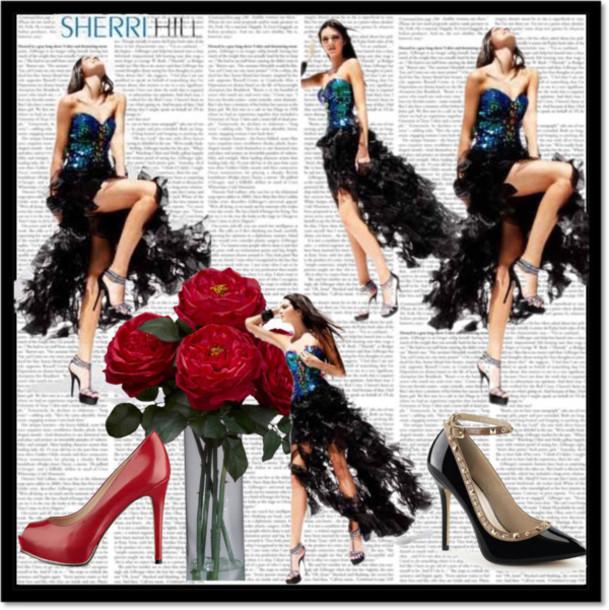 dress 2014 sherri hill 2920 black/multi sparkle dress