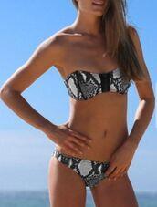swimwear,snake skin bathing suit,snake print,bikini,ustrendy