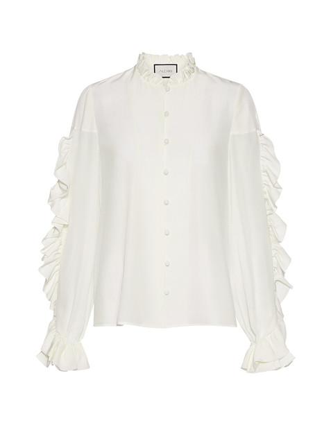 Alexis blouse white silk top
