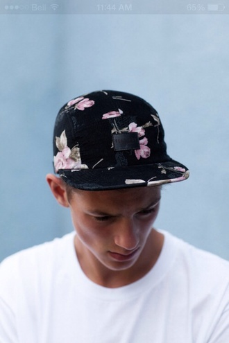 hat floral snapback tumblr mens accessories