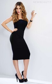 dress,bodycon dress,sofia vergara,black