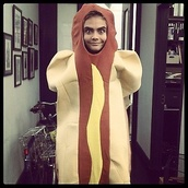 dress,hot dog,cara delevingne,funny,disguise,fancy dress