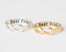 Handmade best friend infinity rings (gold or silver)