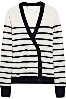 A.l.c. jasper striped cashmere cardigan