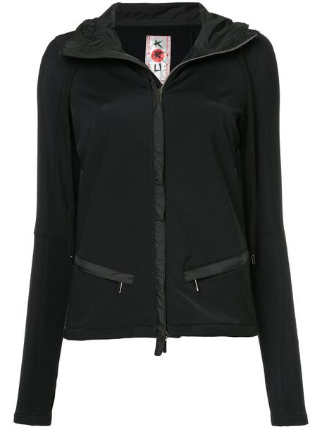 Kru hoodie zebra women black sweater