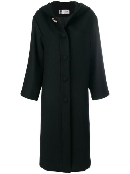 lanvin coat long coat long women embellished black wool
