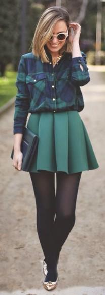 turquoise skirt shirt blouse