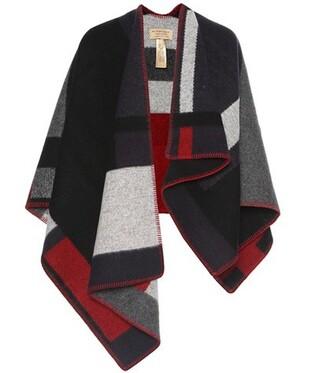 poncho wool top