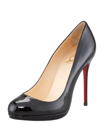 Christian Louboutin Filo Patent Leather Platform Red Sole Pump - Bergdorf Goodman