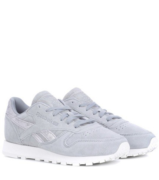 reebok classic sneakers leather grey shoes