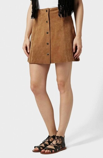 skirt suede fashion style mini skirt