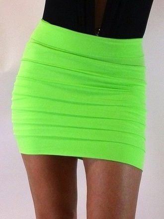skirt lime green skirt