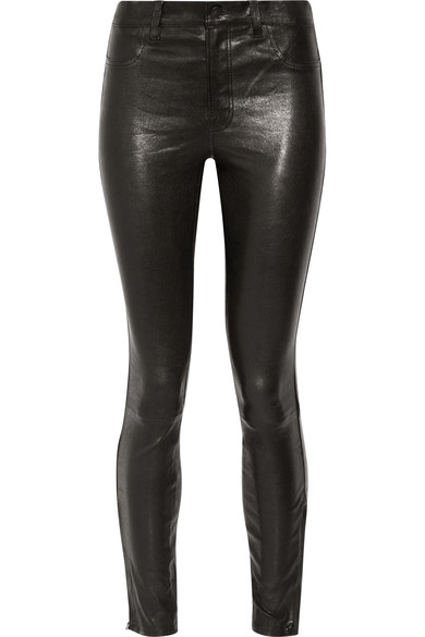 J Brand - 8001 leather skinny pants