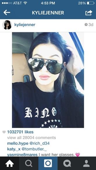 sunglasses black sunglasses kylie jenner