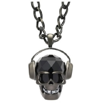 jewels necklace skull music earphones