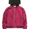 Hooded satin bomber jacket in maroon