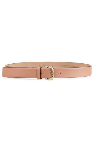 belt leather beige