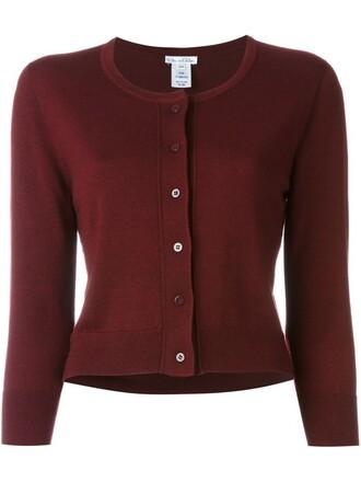 cardigan women classic silk purple pink sweater