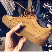 shoes,khaki,vans,suede,hipster,boho,fashion,style,retro,brown,nude sneakers,tan,suede sneakers,low top sneakers,brown sneakers,sneakers,brown shoes,casual wear,streetwear,streetstyle,vans of the wall,tan vans,peanut,vintage,cute shoes,cute,gfm,timberlands,sk8-hi,guns and roses,bikini,beige,lowtop,nude,platform shoes,hi top,all tan everything