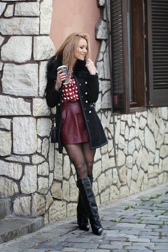 fashion spot coat shirt skirt shoes bag