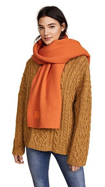 Acne Studios scarf orange