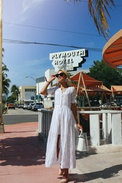 dress,white,white dress,midi dress,cotton