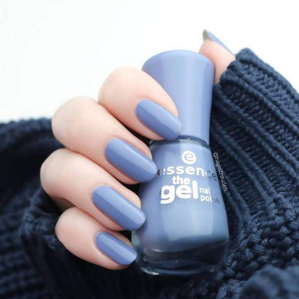 Nail Polish Essence Blue Nails Tumblr Art Fake